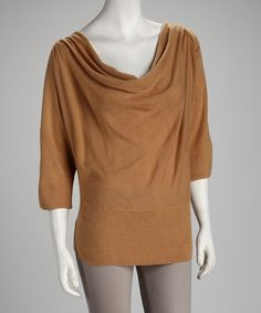 Take a look at this Suede Dolman Sweater - Women & Plus by Layer Like So: Women's Sweaters on #zulily today!
