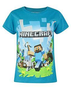 Niña - Noisy Sauce - Minecraft - Camiseta (9-10 Años) #camiseta #realidadaumentada #ideas #regalo