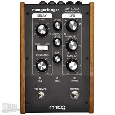 """Originally designed by Bob Moog and released in 2000, the Classic MF-104 Analog Delay was manufactured as a limited edition release of 1000 units. A special """"Bucket Brigade"""" delay chip was employed allowing the effect to remain completely analog."""