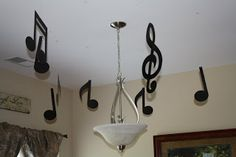 Wiggles birthday party - use my coloured music notes to hang around room and cupboards