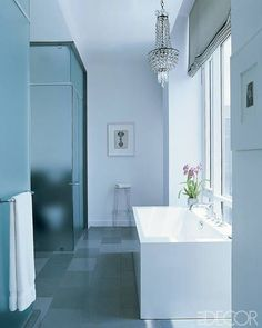 Feminine White Bathroom - ELLEDecor.com
