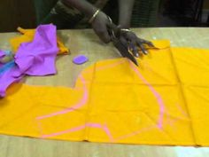 Saree blouse cutting method in English. - YouTube