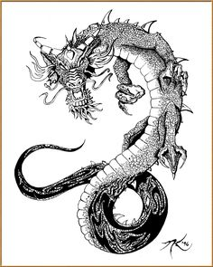 Traditional Sakura tree Line Art | Traditional Japanese Dragon Tattoo Designs Japanese dragon tattoo