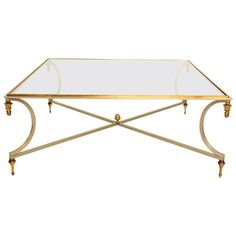 For your consideration an amazing coffee table in the style of Maison Jensen.Sculptural bronze details with stainless steel frame.Table can be taken apart if needed for safe and easy shipping. Coffee Table Styling, Coffe Table, Iron Table, Regency Era, Mid Century Modern Furniture, Hollywood Regency, Cocktail Tables, Table Furniture, Mid-century Modern