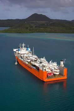 Dockwise moves personal yachts around the world.