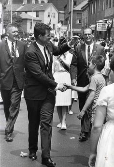 Ted (Edward) Kennedy , circa 1965 . . campaigning to keep Camelot alive.