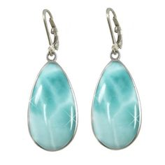 Sterling Silver Larimar Earrings (BTS-NEA2475/LR/R) (305 CAD) ❤ liked on Polyvore featuring jewelry, earrings, sterling silver jewelry, sterling silver jewellery, larimar earrings, larimar jewelry and earring jewelry