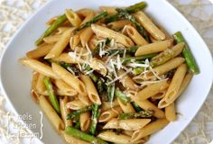 Asparagus Pasta with Balsamic Butter Sauce