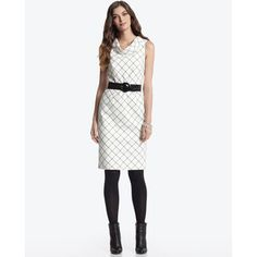 WHBM Windowpane dress