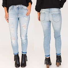 We can't get over how PERFECT our new Jenny Jeans are  They're the perfect light-wash ft. adorable rips ❤️