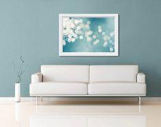 nautisch Dekor abstrakte Fotografie Fine Art blaugrün Wand Strand Fotografie Silberabzug 20 x 30 24 x 36 Zoll blaue Lichter, die Küsten nautisch Dekor druckt