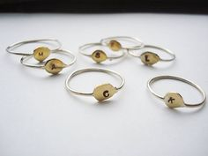 monogram rings... i think it would be neat to stack up with you children's initials