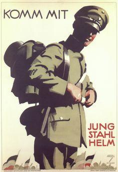 Ludwig Hohlwein,  Join Us. Steel Helmet Youth (1920-1923)