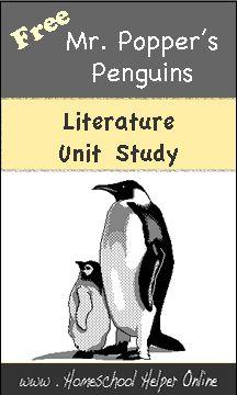 Free literature Unit Studies on Homeschool Helper Online.