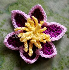 Clematis - free crochet pattern from Snowcatcher.