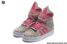 Low Price Girl Adidas X Jeremy Scott Big Tongue Shoes Grey Pink Shoes Shop