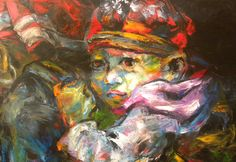 "Mai Huy Dung, ""Mother Protection"", Oil on Canvas"