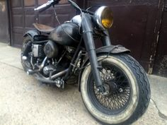 """Among other good reasons to buy it, the seller states that this bike """"looks like it's been in a barn for 80 years"""". Obliviously, it hasn't, but maybe this is the way to go if you actually want to. Barn Garage, Barn Finds, Custom Bikes, Cars And Motorcycles, Harley Davidson, Classic, Motorbikes, Derby, Custom Motorcycles"""