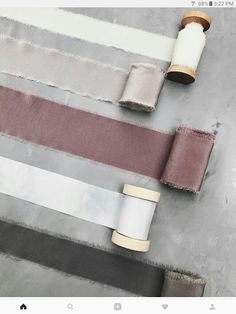 Hand dyed silk ribbons from tono and co Grey Ribbon, Fabric Ribbon, Ribbon Colors, Silk Ribbon, Birthday Quotes Bff, Best Bedroom Paint Colors, Fabric Photography, Earthy Color Palette, Ribbon Bouquet