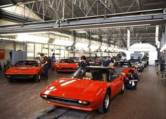 Ferrari factory late 1970's - 308 assembly