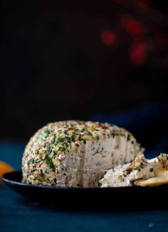 This macadamia nut cheeseball is flavored with fresh orange, spices, crispy sage and pecorino cheese. It's the perfect make-ahead snack! Cheese Ball Recipes, Appetizer Recipes, Spicy Recipes, Nut Cheese, Pecorino Cheese, Snacks To Make, Holiday Appetizers, Vegetarian Recipes Dinner, How Sweet Eats