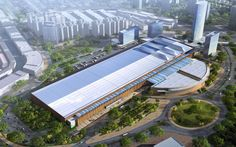 Aerial Rendering of Jakarta Convention Centre.  Designed by Vx3 Architects.Strategists.Urban Designers