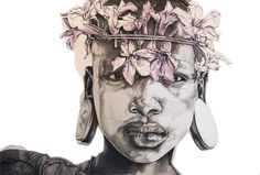 Heart of the Omo Potrait Painting, South African Art, A Level Art, Pink Art, Life Drawing, Rose, Mystic, The Past, Statue