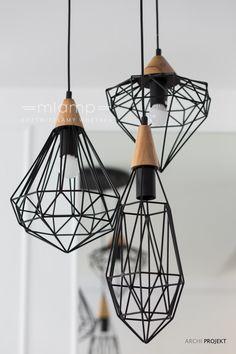 Znalezione obrazy dla zapytania skandynawskie lampy z drutu salon