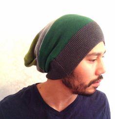 Beanie Hat slouch cap  dread cap Men Clothes unisex by MissTopKnot, $30.00