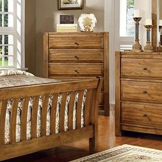 Conrad Country Style Rustic Oak Finish Queen Size Bedroom Set * You can get more details by clicking on the image. (This is an affiliate link and I receive a commission for the sales) Oak Bedroom, Bedroom Chest, Queen Bedroom, Bedroom Dressers, Country Style, Country Charm, Wood Veneer, Queen Size, Solid Wood