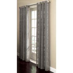 Delightful Allen Roth Anaheim Sheer Curtain 84 In L Geometric Grey Grommet Sheer  Curtain