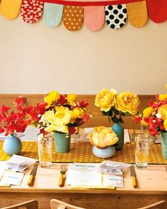 red | yellow | turquoise color scheme for my decor on the back porch!  So excited to get to decorating it...