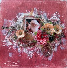 """Such a beautiful layout, by Mary Catt..! Papers are from MajaDesign's """"I Wish"""" collection."""