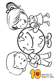 Earth Day Coloring Page – We Love Earth hashtags Earth Day Coloring Pages, Disney Coloring Pages, Colouring Pages, Coloring Pages For Kids, Coloring Sheets, Easy Arts And Crafts, Crafts To Do, Crafts For Kids, Daycare Themes