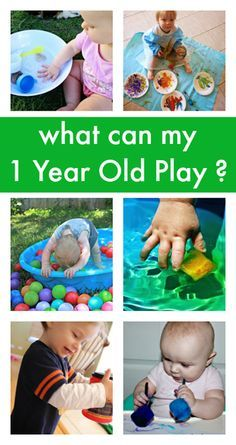 play ideas for one years olds :: baby play activities