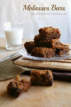 Molasses Bars Recipe...there is nothing that tastes quite like treats baked with real molasses