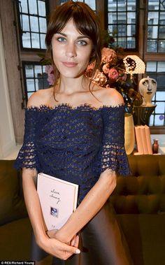 Alexa Chung elegant at her book launch