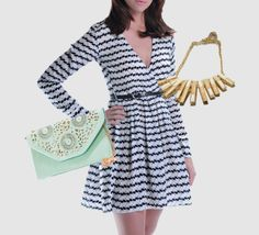 Nothing says summer like a killer dress and a great clutch!  #summerstyle  Link to the dress here: http://zankhna.com/product/marilyn-pattern-pleat-dress/