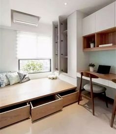The post 70 Best Small Bedroom Design Ideas & Decoration for 2018 appeared first on Lampe ideen. 70 Best Small Bedroom Design Ideas & Decoration for 2018 LeChuang Design Small Bedroom Designs, Small Room Design, Small Bedrooms, Design Bedroom, Small Beds, Interior Design Ideas For Small Spaces, Small Room Layouts, Bedroom Storage For Small Rooms, Small Bedroom Interior