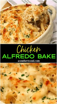 French Delicacies Essentials - Some Uncomplicated Strategies For Newbies Creamy, Cheesy And Full Of Comfort Food Goodness This Easy To Make Casserole Made With Rotisserie Chicken Makes Getting A Home Cooked Meal On The Table A Cinch. Easy Home Cooked Meals, Easy Chicken Dinner Recipes, No Cook Meals, Meals With Rotisserie Chicken, Chicken Alfredo Casserole, Food Dishes, Pasta Dishes, Main Dishes, Easy Healthy Recipes