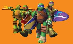 The turtles if they went surfing