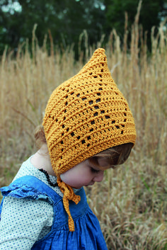 bonnets Ravelry: Monroe Pixie Bonnet pattern by Mel Harrison Crochet Baby Bonnet, Crochet Baby Clothes, Baby Bonnet Pattern Free, Baby Patterns, Knitting Patterns, Crochet Patterns, Crochet Crafts, Crochet Projects, Crochet Stitches
