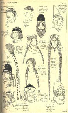 medieval hairstyles I #hairstyles #medieval