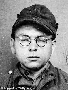 "Nazi Hans Pfaum, the SS ""Labour Director"" of Ravensbruck, pictured before trial for war crimes."