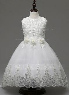 [R$ 156.28] De baile Longuete/Sweep/Brush trem Vestidos de Menina das Flores…