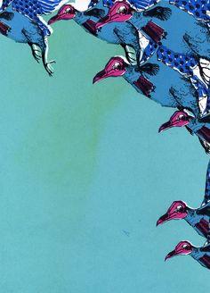 War Birds in Aqua Blue, 2012 - Olenna Mokliak.