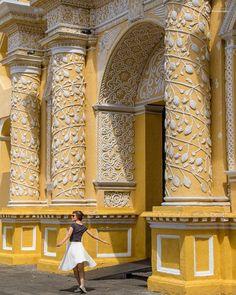 'Dancing with myself' outside Iglesia de La Merced. The most iconic church in Antigua due to its distinctive colour and beautiful Moorish plaster filagree . . . #antigua #visitguatemala #guatemala #lamerced #awakethesoul #lifeofadventure #igbest_shotz #natgeovisual #iconicbuilding #bbctravel #guardiantravelsnaps #mylpguide #lpfanphoto #lifesabeach #natgeo #Travel #TravelBlogger #TravelPhotography #TravelDiary #TravelLife #TravelPics #TravelCouple #travelisthenewclub #travelawesome…