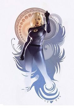 Marvel Fantastic Four Invisible Woman by Jelena Djurdjevic Marvel Comic Character, Comic Book Characters, Comic Book Heroes, Marvel Characters, Comic Books Art, Comic Art, Marvel Dc Comics, Marvel Art, Marvel Heroes
