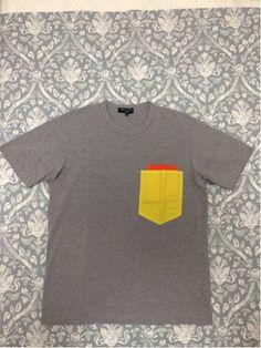 美品16ss コムデギャルソンオム カラフルポケットTシャツ S_画像1