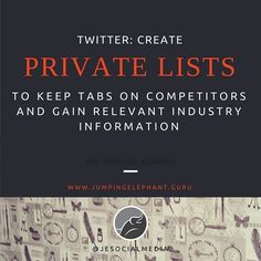Sneaky? Or clever! Keep an on eye on your competitors with #twitter. #socialmedia #ftw!